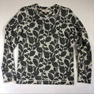 LOFT floral crewneck sweatshirt